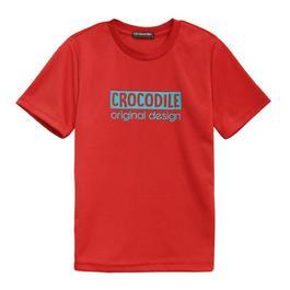 『小鱷魚童裝』吸濕排汗LOGO運動衣