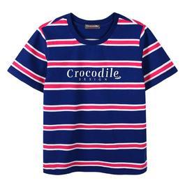 『小鱷魚童裝』條紋T恤