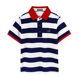 『小鱷魚童裝』條紋POLO衫