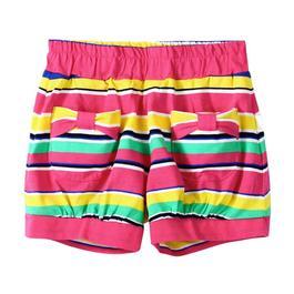 『小鱷魚童裝』亮彩條紋短褲