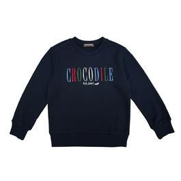 『小鱷魚童裝』彩色刺繡文字休閒T恤