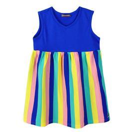 『小鱷魚童裝』拼接條紋洋裝