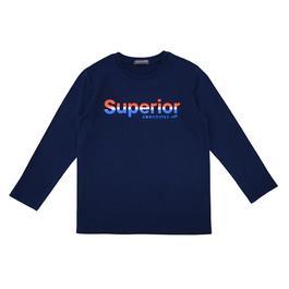 『小鱷魚童裝』Superior文字印圖T恤