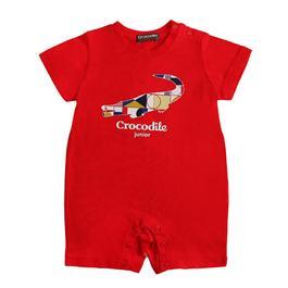 『小鱷魚童裝』經典鱷魚LOGO印圖連身褲