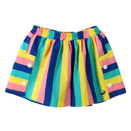 『小鱷魚童裝』亮彩條紋短裙