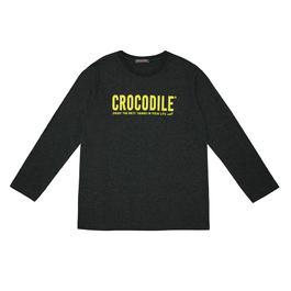 『小鱷魚童裝』LOGO印圖T恤