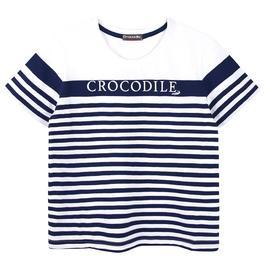 『小鱷魚童裝』條紋圓領上衣