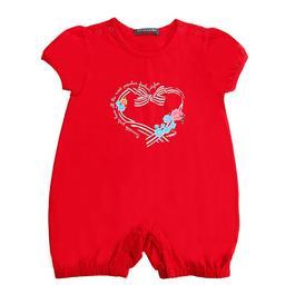 『小鱷魚童裝』貼鑽印圖連身褲