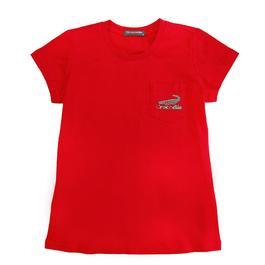 『小鱷魚童裝』撞色LOGO圓領T恤