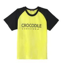 『小鱷魚童裝』吸濕排汗拼接透氣T恤